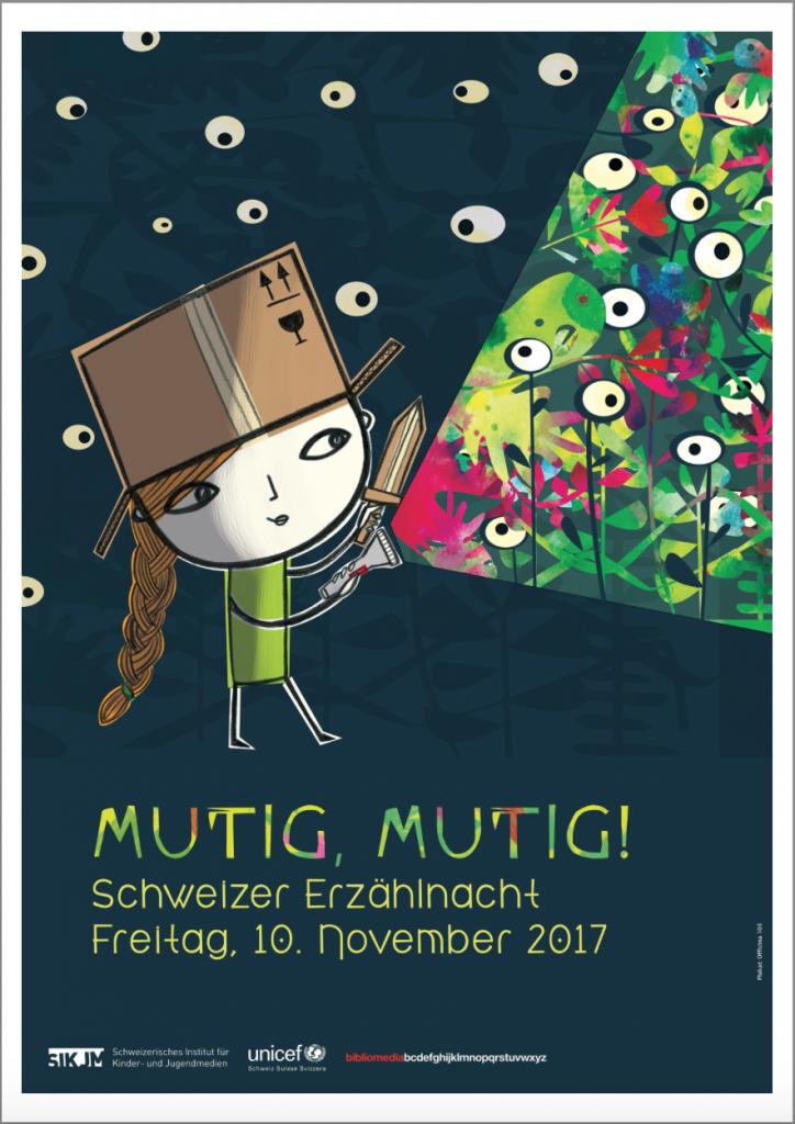 Mutig Mutig, Plakat der Erzählnacht 2017